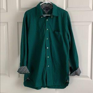 Tommy Hilfiger Blue & Green Button Up